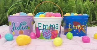 personalized easter buckets personalized easter or storage