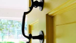 How To Refinish An Exterior Door The Easy Way by Updating Old Brass Hardware U0026 Handles With Spray Paint Young