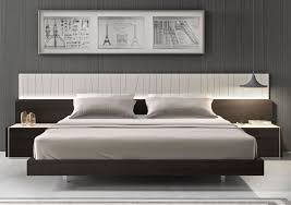 Stylish Bedroom Designs Modern Platform Bed And Wall Mounted Side Tables Idea Feat Stylish