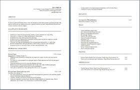 Sample Resume For Fitness Instructor by Personal Trainer Resume Free Layout U0026 Format