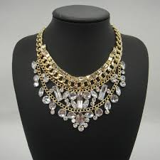fashion collar necklace wholesale images Statement chunky alloy necklaces pendants vintage silver chain jpg
