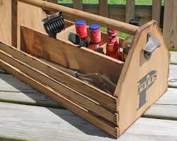 Wooden Groomsmen Gifts Wooden Grill Tote Personalized Grilling Tools Holder Wood