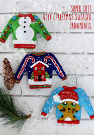 christmas in july ugly christmas sweater ornaments kit