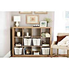 Cube Bookcase Wood Wooden Storage Cubes Ebay