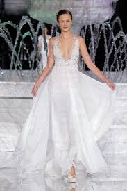 Bridal Fashion Week Wedding Dress by Atelier Pronovias 2018 At Barcelona Bridal Fashion Week Ruffled
