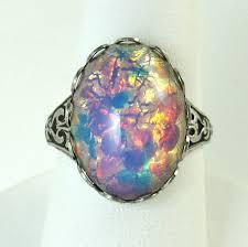 vintage opal engagement rings earrings bling jewelry vintage cz sterling silver opal