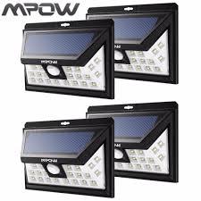 mpow solar light instructions mpow 54 led solar lights waterproof energy solar lighting 120 degree