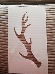 stenciled antler ornament restoration redoux