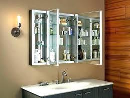 tri fold medicine cabinet hinges tri fold medicine cabinet x surface mount oak view wood mirrored