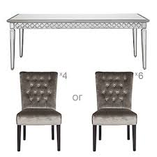 Mirrored Dining Room Furniture Mirrored Dining Table Collection Z Gallerie