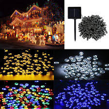 solar led xmas lights solar christmas lights ebay