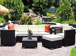 patio 38 dark black with white cuhsion wicker chair cushions