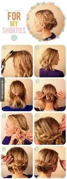 Hochsteckfrisurenen Kinnlanges Haar Anleitung by Die 25 Besten Hochsteckfrisuren Kurze Haare Ideen Auf