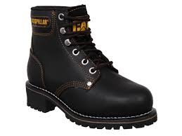 ebay womens boots size 12 womens caterpillar cat logger leather steel toe cap safety work
