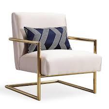 Gold Accent Chair Beige Gold Linen Accent Chair