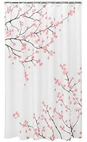 Cherry Blossom Curtains Amazon Com Cherry Blossom Shower Curtain Decor By Ambesonne
