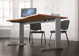 bureau top office essentiel wave top office desk with metal modesty panel