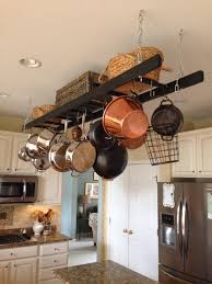 kitchen style low ceiling classic pot rack rectangle traditional