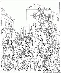 coloring page ultron robot army