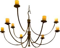 dining room french farmhouse chandelier with candles and metal