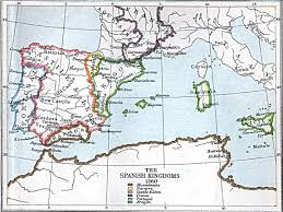 Map Of Spain With Cities by Maps Of The Spanish Kingdoms 1030 A D 1556 A D Perry