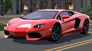 cars lamborghini pink fresh prince creations sims 3 2012 lamborghini aventador lp 700 4