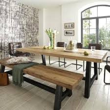 Wood Bench Metal Legs Dining Table And Bench U2013 Mitventures Co