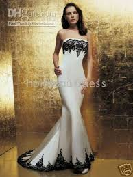 white wedding dress with black lace not that i u0027m getting married