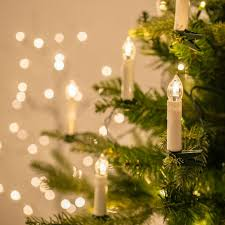 tree led wax taper candles with removable clip
