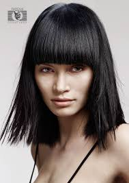 medium length bob hairstyle pictures hairstyles picture blunt bangs for medium hair haircut march