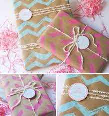 ruff draft diy chevron wrapping paper and chevron stamp anders