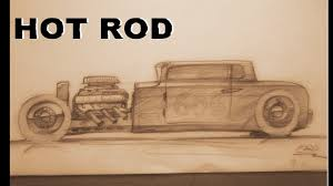 vintage cars drawings how to draw a rod side view youtube