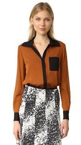 diane von furstenberg carter silk blouse shopbop