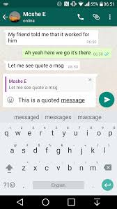 Quote From Love Actually by Whatsapp 2 16 118 Beta Adds Message Quotes And Replies
