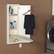 Laundry Room Cabinet Height by Amazon Com Household Essentials 18100 1 Stowaway In Wall Ironing