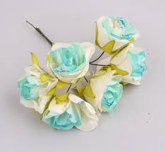 3cm artificial flower bouquets tissue paper flowers mini roses for