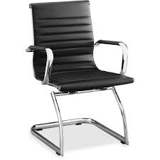 Office Chair Side View Lorell 59539 Modern Chair Mid Back Leather Guest Chair Leather