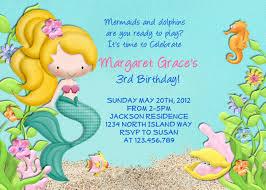 birthday invitation themes mermaid birthday invitations lilbibby com