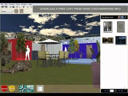 3d Home Design Software Kostenlos Shipping Container Home Design Software Youtube