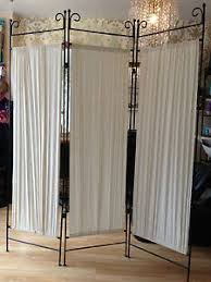 shabby chic victorian style iron metal room divider dressing