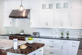 kitchen with white cabinets and wood countertops black white kitchens with wood countertops and butcher