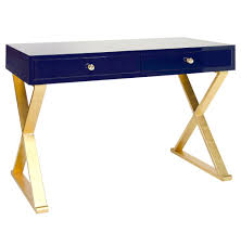 blue writing desk keating hollywood regency navy blue lacquer gold desk kathy kuo home