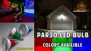 Par30 Led Light Bulb by Par30 And Par38 Led Bulbs Youtube