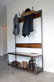 Entrance Hall Bench Sarah U0027 Reclaimed Wood Entrance Bench U0026 Coat Rack Wilkins Design