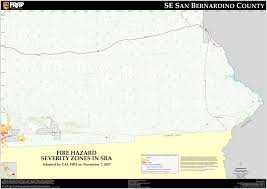 Lake Havasu Map Cal Fire San Bernardino South East County Fhsz Map