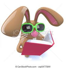 easter bunny book 3d chocolate easter bunny rabbit reading a book 3d