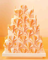 yellow and orange wedding cakes martha stewart weddings
