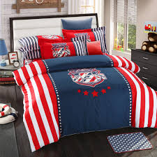 Pixel Comforter Set Captain America Bed Sheets American Flag Bedding Set Queen Size