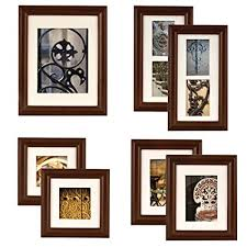 mur design home hardware gallery perfect 7 piece walnut wood photo frame wall gallery kit