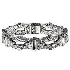 link men silver bracelet images Designer men 39 s silver link bracelet gerochristo 6225n sharp jpg